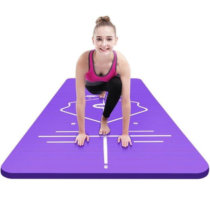 瑜伽墊中歐初學者瑜伽墊加寬舞蹈健身墊加厚防滑男女士運動瑜珈墊三件套xw