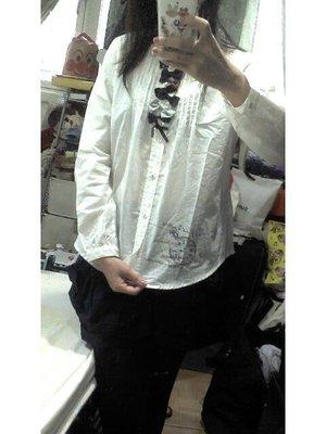 *人人美*日本帶回rivet&surge蝴蝶結白色長袖襯衫~特價