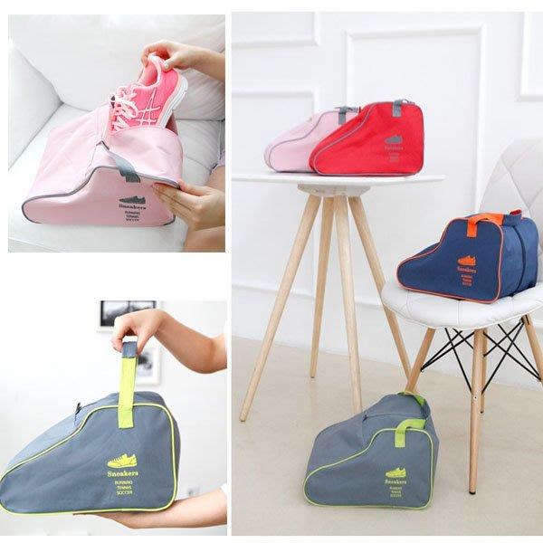 Q媽 新款可手提旅行鞋子收納袋整理包 家居鞋類保護袋 收納包 運動戶外鞋子收納包 鞋袋 鞋包