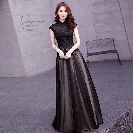 【曼妮婚紗禮服】3件免郵~結婚  晚宴 年會主持人服 修身顯瘦長禮服~C975