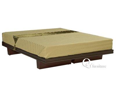 單人床架 架高床底高床台加高床底木屐床底 胡桃色3.5單人加大床底。/現代/簡約【奇一家具 】E100-053南部免運費