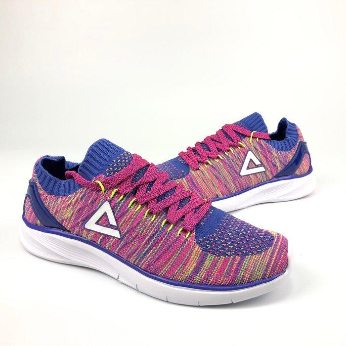 PEAK 慢跑鞋 襪套式設計 粉紫藍 E72238H 女款 I21 亮禹體育PEAK台灣經銷商
