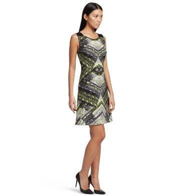 破盤出清大降價!全新美國名牌 Kennth Cole 年輕款高雅高調花紋洋裝,低價起標無底價!本商品免運費!
