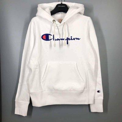 Champion 歐規 logo連帽衛衣 白XS-XL [EF-GAD/181030]
