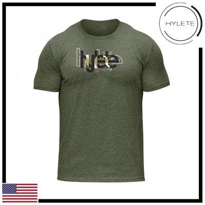 ►瘋狂金剛◄軍綠色  HYLETE overlap tri-blend crew tee 柔軟 透氣 短袖T恤