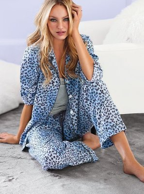 ☆°╮VS流行館╭°☆維多利亞的秘密Victoria's Secret◎性感豹紋家居服睡衣(現貨在台)