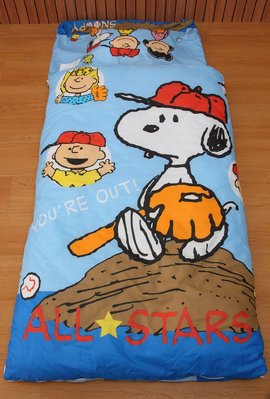 GiGi居家寢飾生活館~兒童卡通睡袋/冬夏兩用鋪棉/台灣製造/史努比