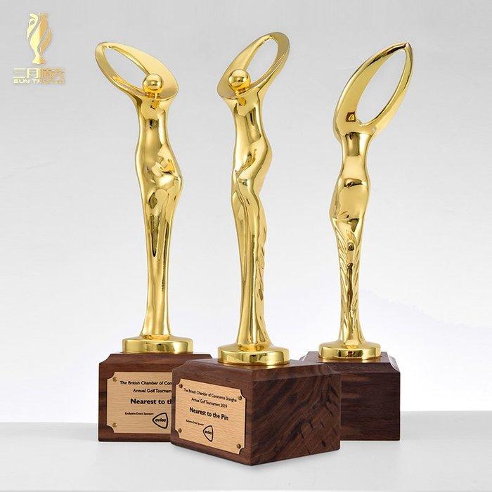 千夢貨鋪-金屬獎杯定制創意奧斯卡小金人定做精英女神獎舞蹈比賽頒獎獎杯
