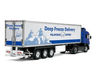 創億RC  田宮 56319 3-Axle Reefer Semi-Trailer 拖車專用冷凍貨櫃 1/14