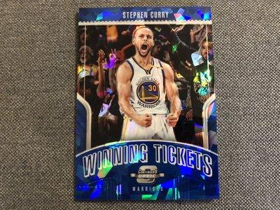 Stephen Curry 特卡 winning tickets 藍冰鑽 勇士 2018-19 contenders
