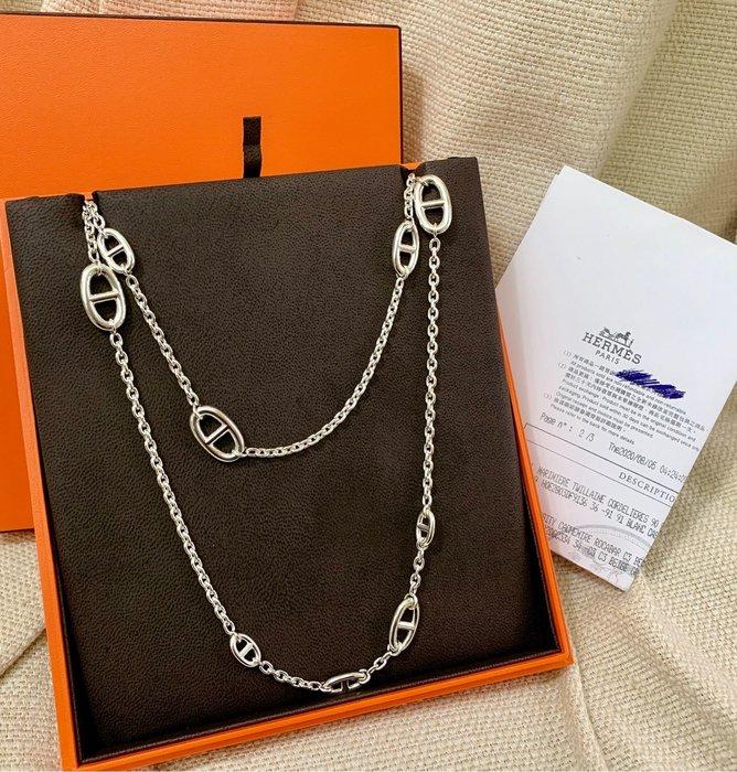 小巴黎二手名牌Hermes愛馬仕 豬鼻鏈 長鏈 160公分 有購證 盒裝