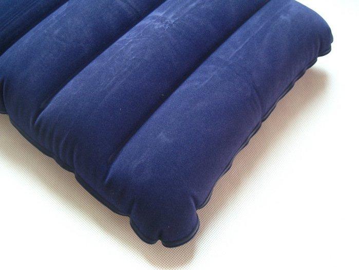 戶外方便枕頭植絨枕頭充氣枕頭午睡枕旅遊枕航空枕頭辦公室枕頭 吹氣枕頭 露營枕頭AT6223
