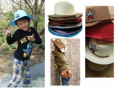 草帽遮陽帽 星星款 牛仔帽警長帽有鋼絲 寶衣舖【MM004】