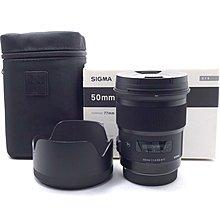 【台中青蘋果】Sigma 50mm f1.4 DG HSM ART, Canon 二手 全片幅鏡頭 #58067