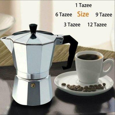 經典摩卡壺 鋁制摩卡咖啡壺家用煮咖啡品質濃縮1-12杯電磁爐 咖啡用具 咖啡壺 虹吸壺 加壓摩卡壺多人份 聚壓咖啡壺 金屬濾片