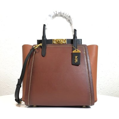 【Woodbury Outlet Coach 旗艦館】COACH 78165 Troupe拼色托特包美國代購100%正品