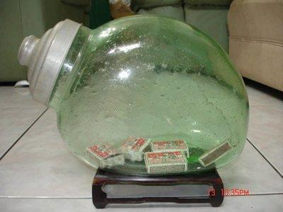 """典藏70-80年前的綠色老""""兔子型""""糖果罐-美.完整"""