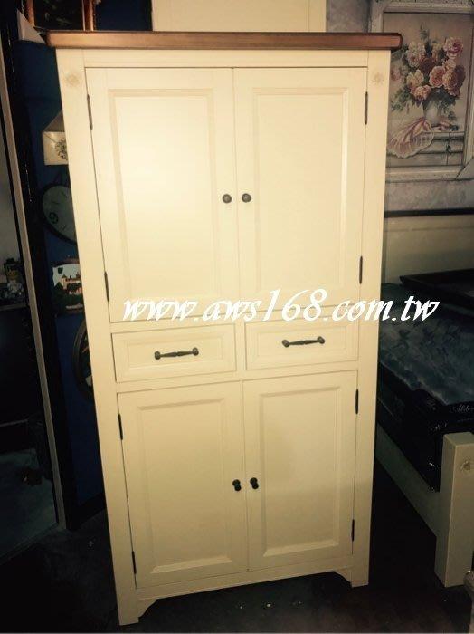 萊茵鞋櫃 古典鄉村風全實木雙色高鞋櫃 隔間櫃  玄關鞋櫃