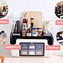 調味盒套裝、家用組合裝、廚房用品 用具、多功能收納盒。 調味品、佐料、油、鹽、罐 收納盒。