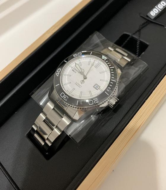 Christopher Ward C60 Trident Pro 600 白面陶瓷表圈潛水錶