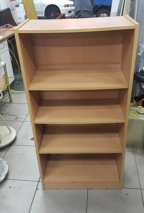樂居二手家具 家電 全新中古傢俱賣場 A207HJ 原木色四層書櫃*書架 4層櫃 展示櫃 空櫃 置物櫃 2手家具拍賣