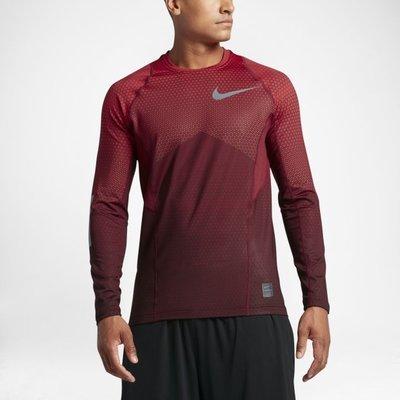 Nike Pro HyperWarm 男 長袖 訓練排汗衣 保暖 圓領 紅 802016-657  現貨