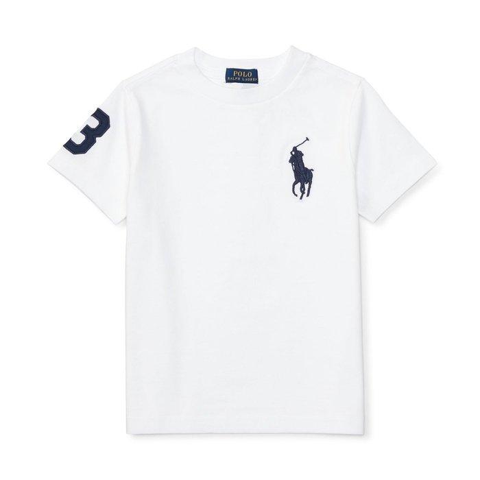 美國百分百【Ralph Lauren】T恤 RL 短袖 T-shirt Polo 大馬 深藍馬 素面 白色 E102