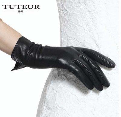 新款女士羊皮手套 薄短款開車觸屏秋冬季情侶手套1630