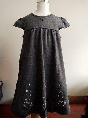 全新麗嬰房familiar系列深灰色公主袖洋裝