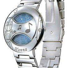 ~QQ小店~Hanna 獨家專利轉盤式腕錶(亮鋼-機器人)(藍)中性款設計.男女皆可.全新免郵