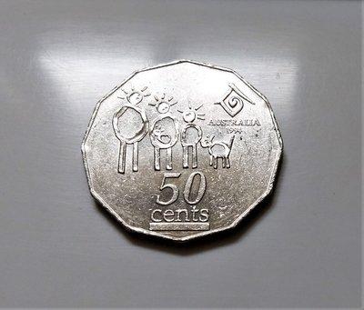 稀有幣1994 年 澳大利亞 伊莉莎白 2世 聯合國 紀念 國際家庭年 50 CENTS 仙 錢幣