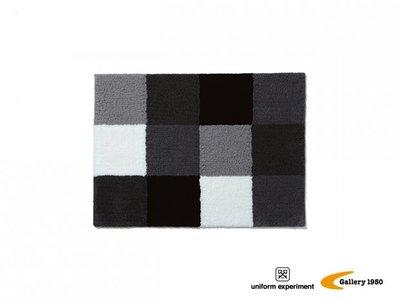 UNIFORM EXPERIMENT x FRAGMENT 聯名 G1950 黑灰白 方格 地毯 簡約時尚 日本製