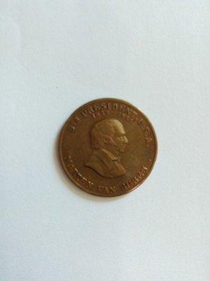 【什坊】 (1837-1847年美國統總馬丁方布倫改革紀念銅幣)