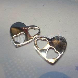琥珀貓銀飾DIY【925純銀材料配件】連結配件~A0682~愛心~一個