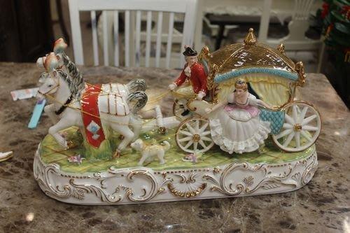 美生活館 傢飾精品 歐式古典 陶瓷 馬車  擺飾 入宅 送禮 收藏 自用皆宜