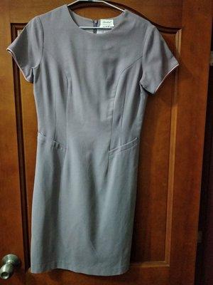 華航舊版空姐制服(紫雲灰,旗袍)1