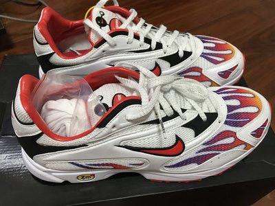 Supreme x Nike strk spectrum pls 聯名款 火焰 白色 老爹鞋 US 9號
