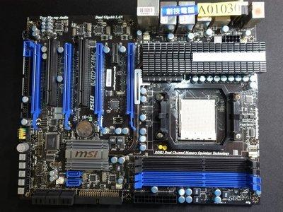[創技電腦] 微星 主機板 AM3 腳位 型號:790FX-GD70 祼板 二手良品 實品拍攝 A01030