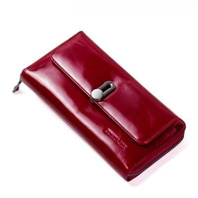 長 夾 真皮 皮夾-多卡位純色牛皮大容量女手拿包3色73ny53[獨家進口][米蘭精品]