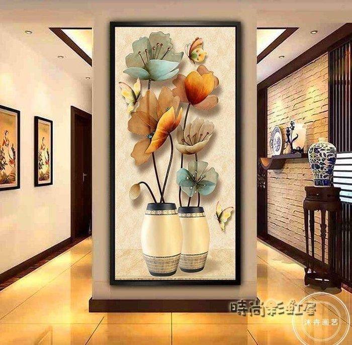 入戶玄關裝飾畫豎版過道走廊墻面畫現代簡約招財風水壁畫客廳掛畫MBS