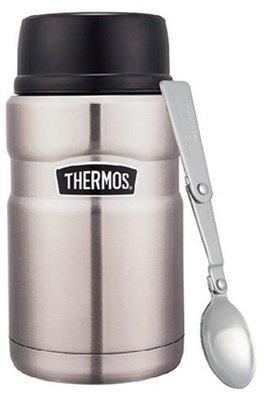 THERMOS 膳魔師SK3021-SBK 不鏽鋼色 真空保溫食物罐(燜燒罐)悶燒杯悶燒罐 附摺疊湯匙 超取 面交