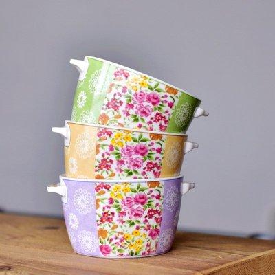 聚吉小屋 #熱賣#法國Emilio Robba設計陶瓷雙耳碗烤碗法式甜品碗燕窩碗布丁碗餐碗(價格不同 請諮詢後再下標)