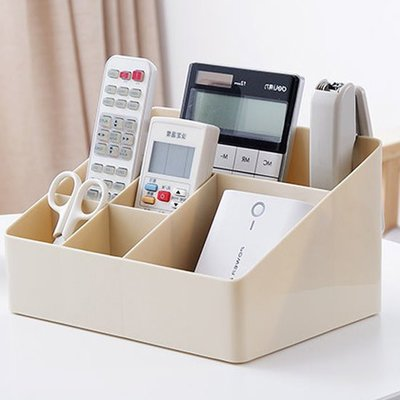 現貨 筆筒 收納箱 化妝盒 多格 加厚塑料 梳妝台 置物盒 儲物盒 整理盒  雜物❃彩虹小舖❃【L165】桌面收納盒