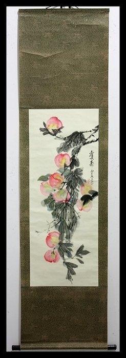 曬圖坊-純手繪-水墨畫-山水畫-花鳥畫-書法-掛軸-歡迎收購-齊白石畫風-271