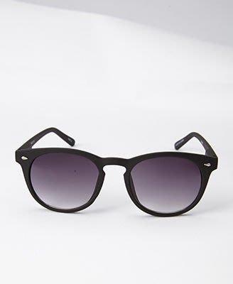 FOREVER 21_F0339 Round Frame Sunglasses 黑色霧面圓框太陽眼鏡 //新品現貨
