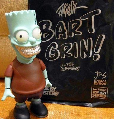 全新 Ron English x Made by Monsters x JPS 銀牙版 辛普森 霸子 Bart Grin