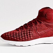 D-BOX  Nike Lunar Magista II Flyknit 編織 透氣 中筒 酒紅白 跑步鞋
