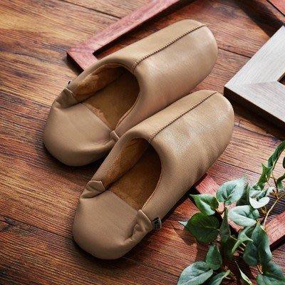 日本皮拖鞋 室內保暖 裏起絨日本拖鞋 室內拖鞋 保暖拖鞋 止滑拖鞋 男女冬天拖鞋