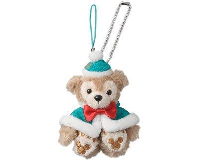 尼德斯Nydus~* 日本東京迪士尼海洋限定 達菲熊 Duffy 聖誕節限定 吊飾 坐姿-約10cm