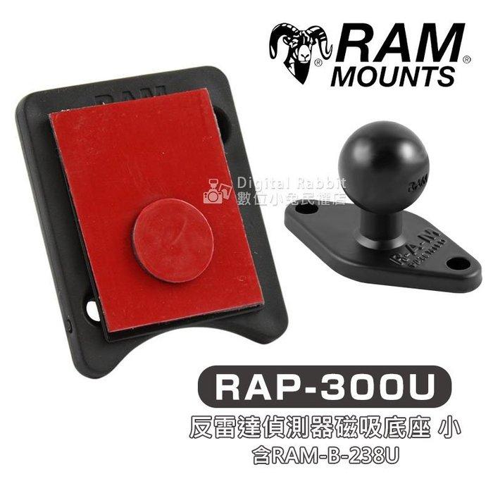數位黑膠兔【RAM Mount RAP-300U 反雷達偵測器 磁吸 底座 小+238U 底座】 車架 汽車 機車 單車